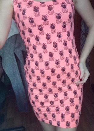 Яркое платье майка