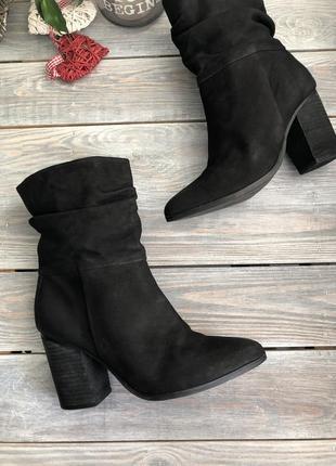 Aldo кожаные ботильоны, ботинки с широкой холявкой на высоком каблуке