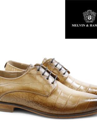 Туфли рептилий от melvib & hamilton, оригинал р. 37 кожа