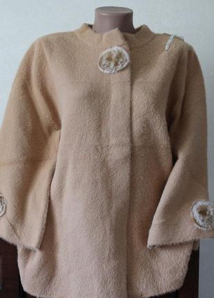 Пальто- накидка, размер 52