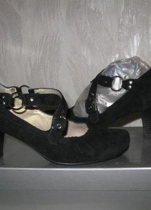Туфли stefani, натуральная замша, кожа.