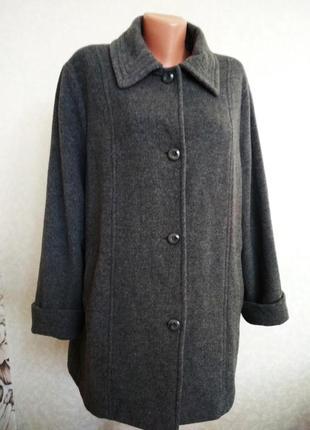 Пальто, полупальто, шерсть+кашемир, большой размер, 1+1= 50% скидки на 3ю вещь.