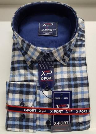 Новинка! тёплая кашемировая мужская рубашка классического кроя.