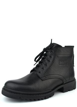 Зимові черевики ручної роботи взуття для чоловіків з натуральної шкіри ultimate black