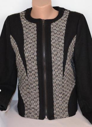 Брендовая куртка пиджак на молнии young threads шерсть этикетка