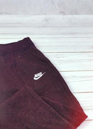 Штаны утеплённые nike pant woman бордовые4 фото