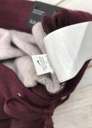 Штаны утеплённые nike pant woman бордовые10 фото