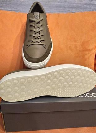 Ecco кожа 100% модные кеды кроссовки оригинал экко4 фото