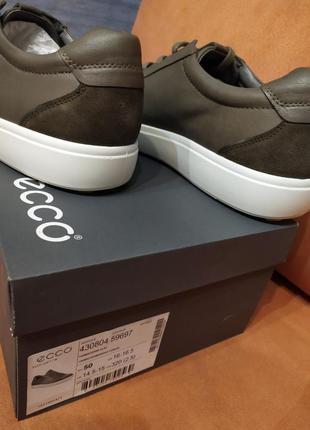 Ecco кожа 100% модные кеды кроссовки оригинал экко5 фото