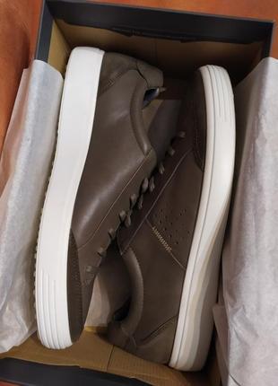 Ecco кожа 100% модные кеды кроссовки оригинал экко7 фото