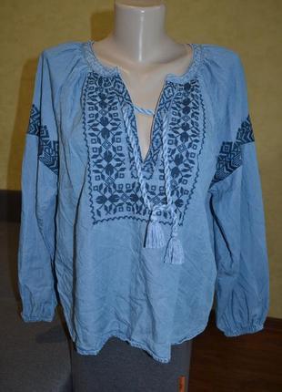 Джинсова вышиванка, блуза