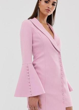 Розовое платье пиджак вечернее коктейльное