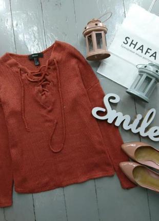 Актуальный  джемпер пуловер со шнуровкой №36