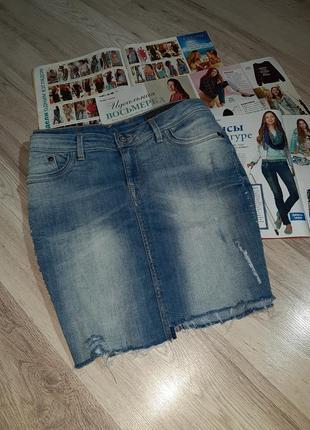 Джинсовая мини юбка denim