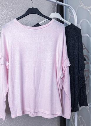 Стильный нежно розовый джемпер оверсайз