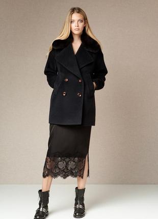 Брендовое черное демисезонное пальто полупальто с карманами debenhams вьетнам