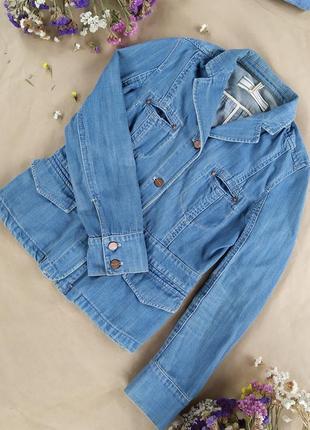 Класчный пиджак/куртка из хорошего джинса не тонкого и не плотного