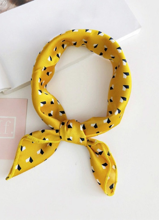 Платок платочек бант лента для волос на сумку топ-качество горчица