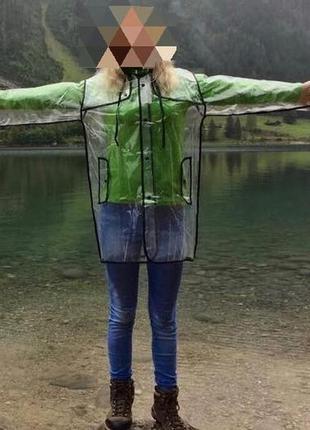 Дощовик жіночий плащик дождевик прозорий стильний