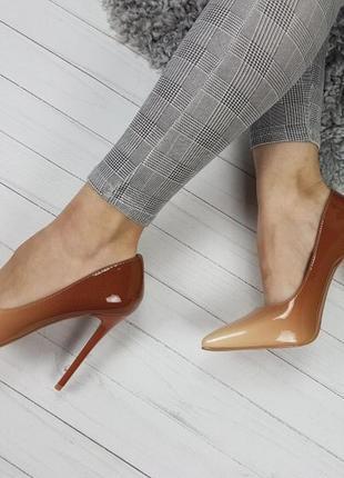 Новые женские бежевые туфли лодочки омбре4 фото