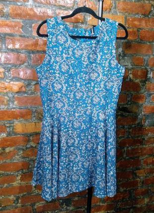 Платье трапеция а-силуэта с принтом isabel london