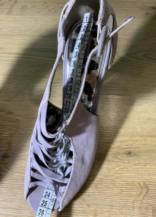 Лиловые открытые туфли на высоком каблуке next5 фото