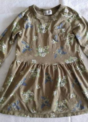 Трикотажное платье next 104 см