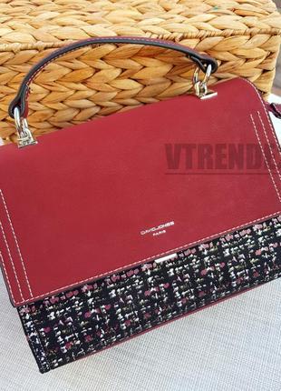 Бесплатная доставка #5471 red david jones стильная замшевая сумочка кроссбоди