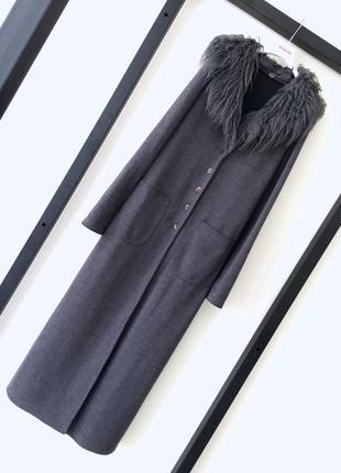 Итальянское трикотажное пальто на пуговицах кардиган3 фото