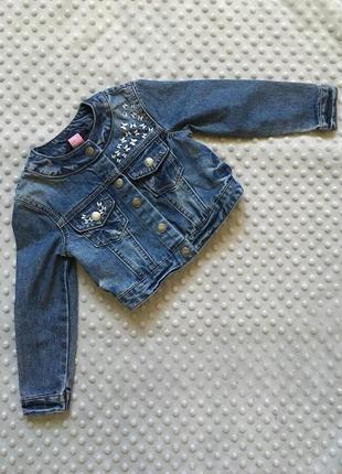 Джинсовка, джинсовая курточка, стильная джинсовка, джинсовая кофта, джинсовка на 2-3 года