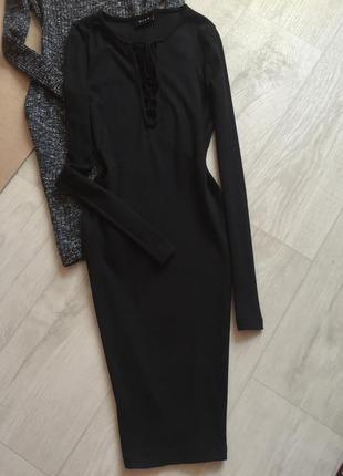 Платье лонгслив со шнуровкой villa
