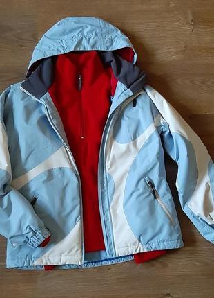 Комплект лыжная спортивная куртка fila + батник