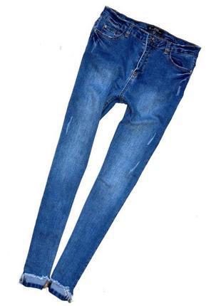 Missguided sinner. джинсы скинни с потёртостями, с прозрачными карманами. м-ка