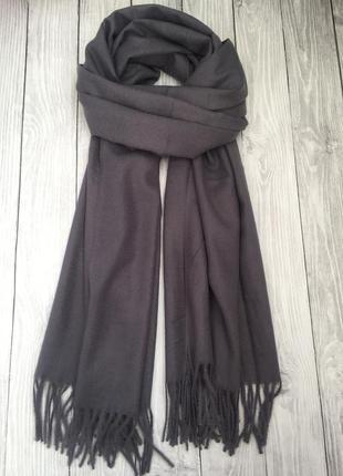 Серо-пепельный шарф палантин