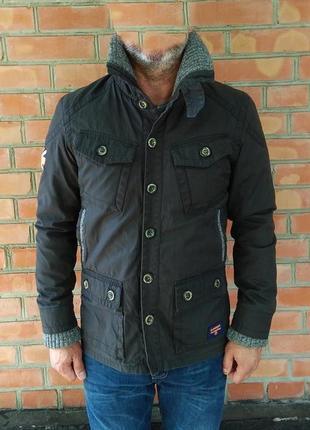 Superdry waxmans racer jacket куртка с пропиткой утепленная оригинал (m)