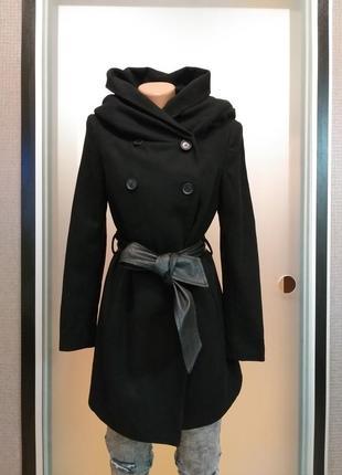 Пальто скапюшоном zara1 фото