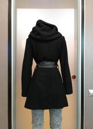 Пальто скапюшоном zara3 фото