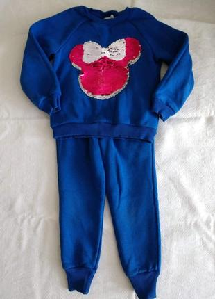 Модный теплый костюм для девочки 110 см