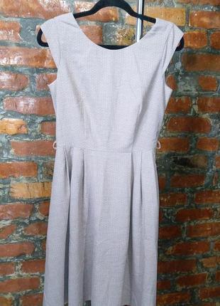Стильное платье с отрезной талией в мелкий горох next