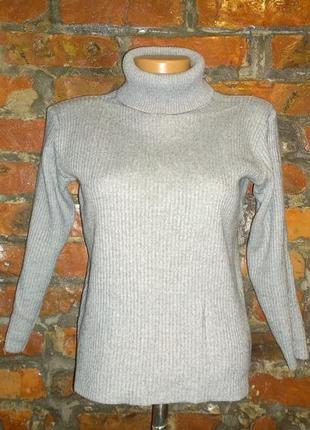 Водолазка гольф свитер в рубчик