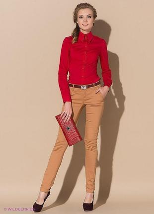 Рубашка блуза красного цвета