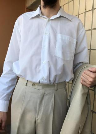Отдам даром белую классическую мужскую рубашку