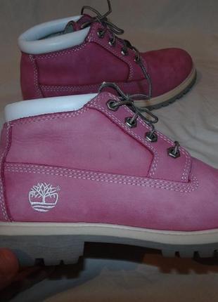 Ботинки timberland оригинал кожа нубук розовые