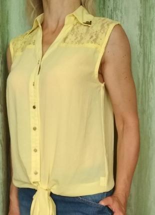 Блуза с гипюром 015