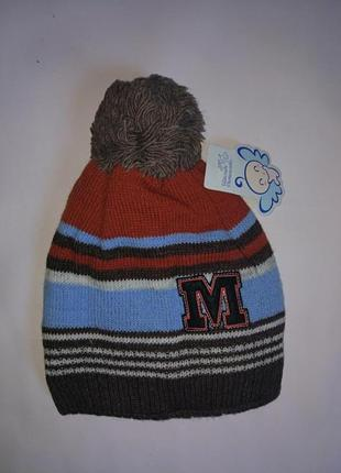 Теплая шапка на мальчика на 2-4 года,48-50