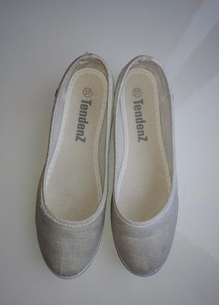 Трикотажные туфли на танкетке 36 р.