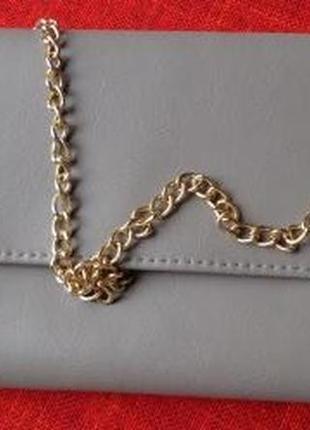 Клатч на золотой цепочке
