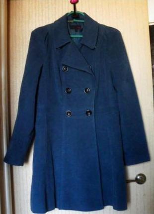 Пальто тренч next р.12 (р.48) демисезон синий индиго коттон хлопок , новое