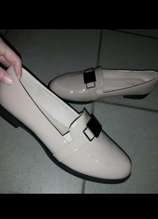 Туфли деми женские баталы низкий ход жіночі туфлі