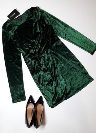 Нарядное новогоднее платье бархатное